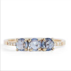 Jennie Kwon/Catbird 14K Gold Sapphire/Diamond Ring
